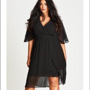 City chic black dress